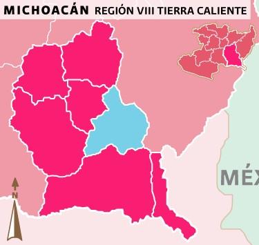 Mapa Caracuaro